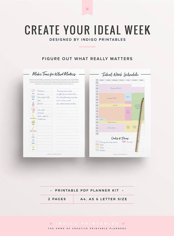 Weekly Schedule Printable Weekly Timetable Ideal Week Worksheet