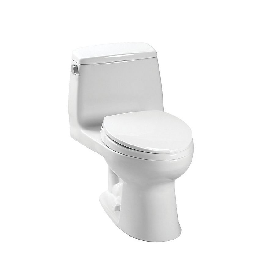 Toto Ultramax 1 6 Gpf 6 06 Lpf Cotton White Elongated Chair Height 1 Piece Toilet Toto Toilet Toilet One Piece Toilets
