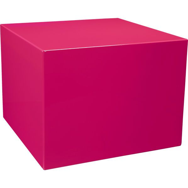 city slicker neon pink side table | Living Room Pops of Color ...