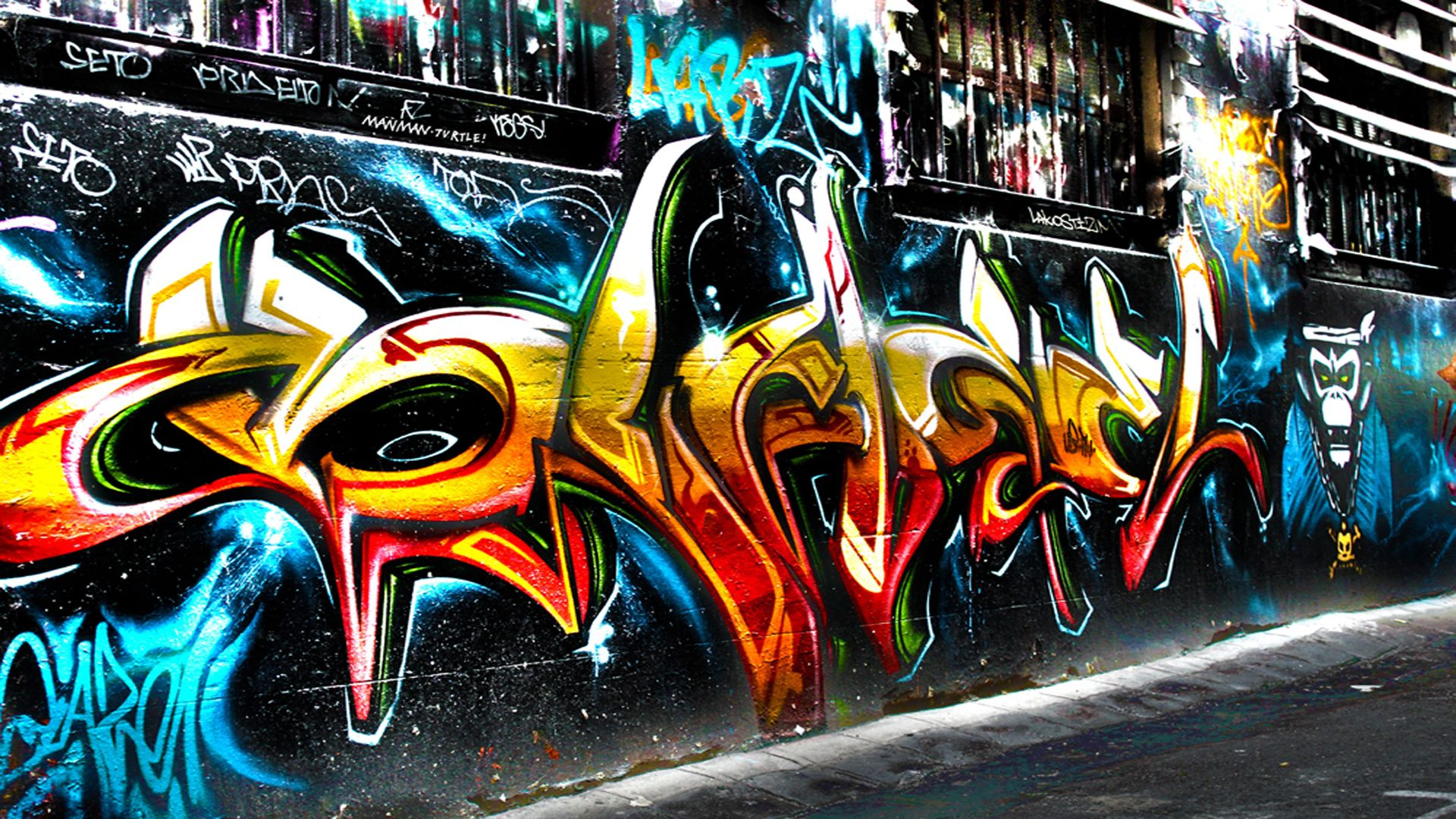 Cool Graffiti Art Wallpaper Free Download | Wallpaper HD | Graffiti wallpaper, Street art ...