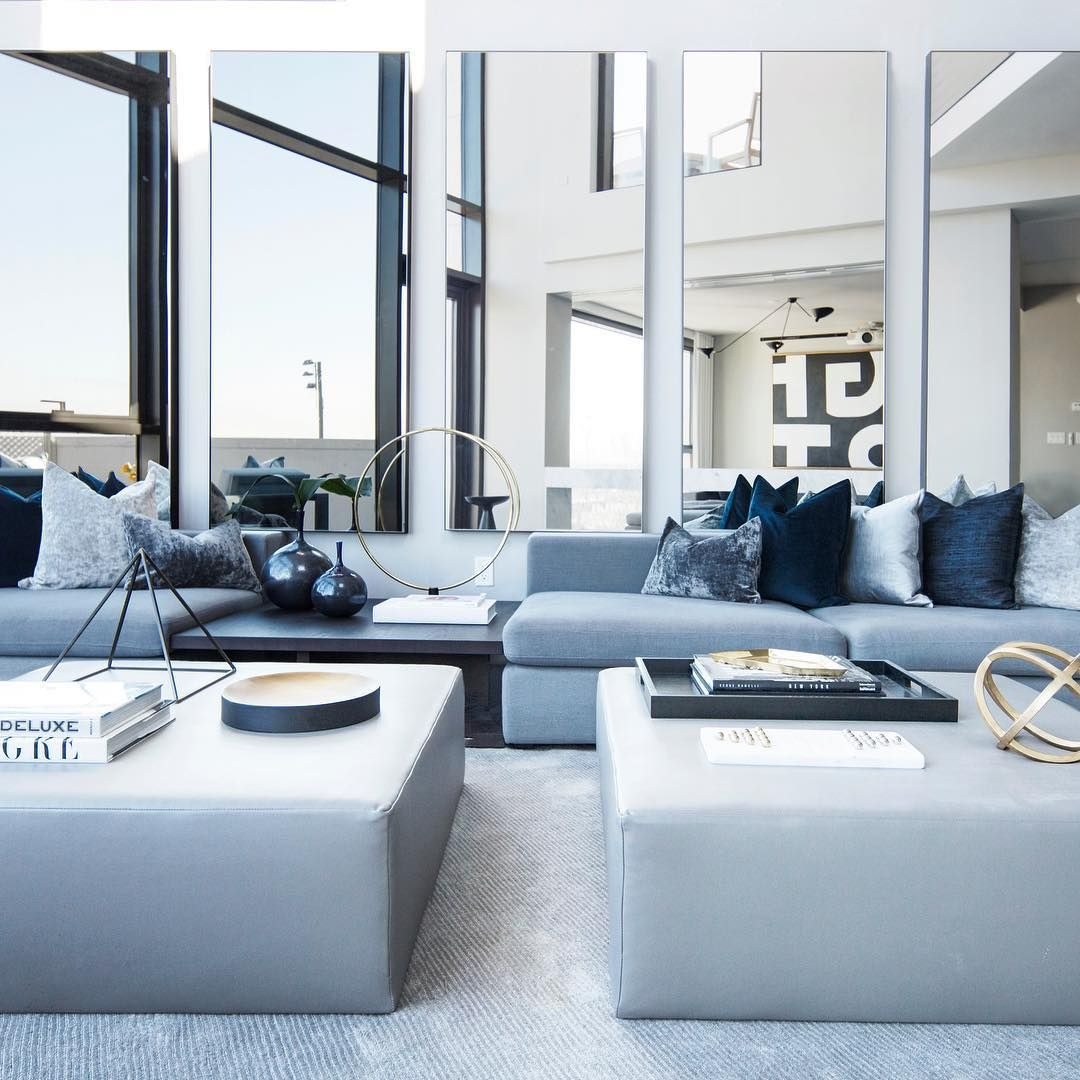Cool Interior Design: Blue , Grey And White