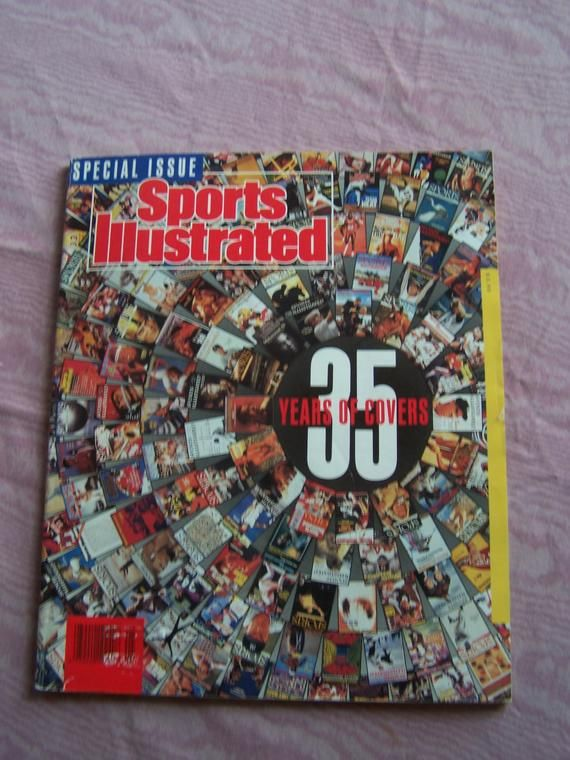 Free Shipping Sports Illustrated 35 Years Of Covers Vintage Paper