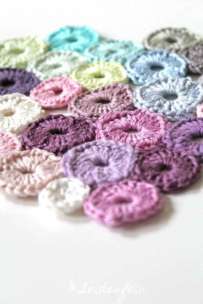 Tupfen - coaster : Häkel - Idee für kleinste Reste... | knitting ...