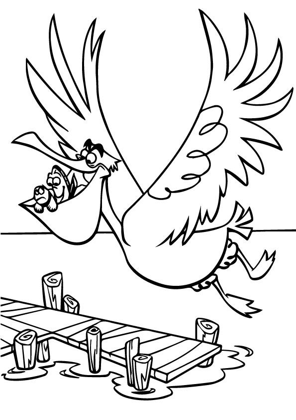 finding nemo blowfish coloring pages - photo#33