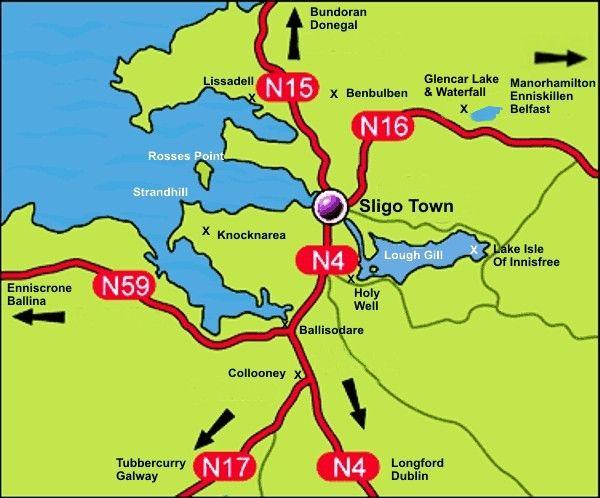 Map Of North West Ireland.County Sligo Ireland Places I D Like To Go Ireland Travel