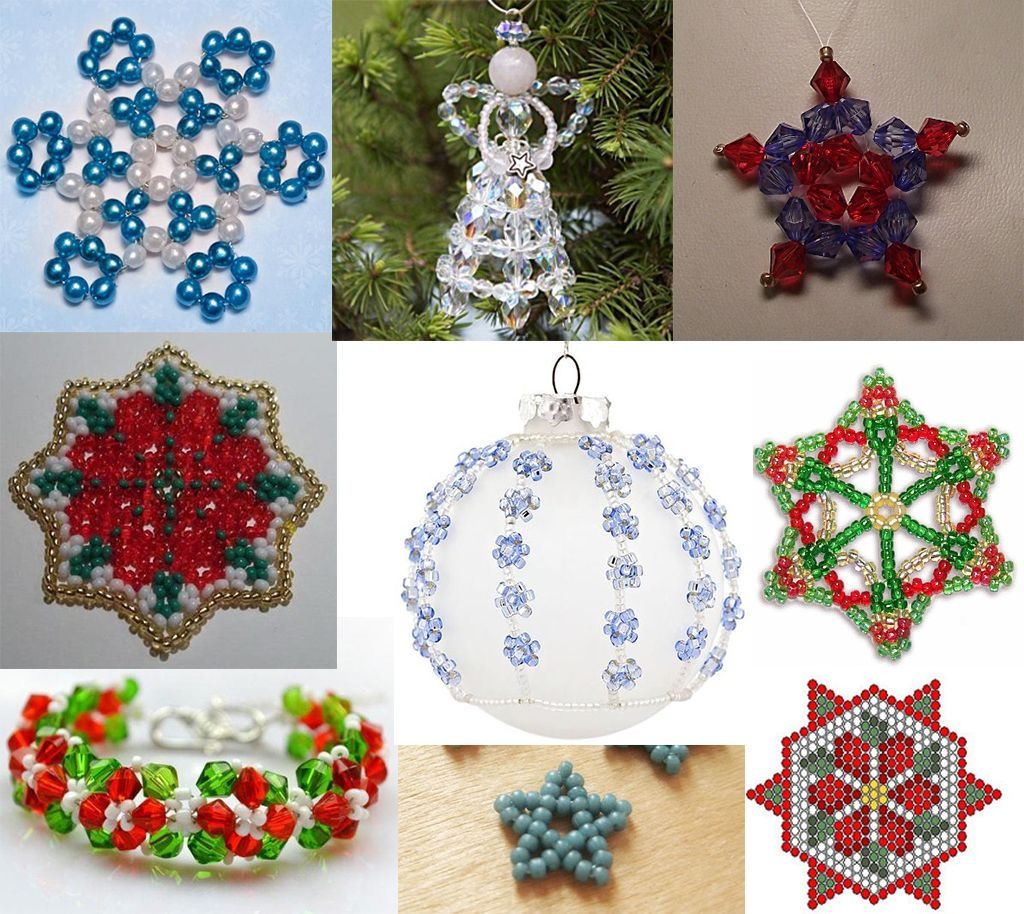 Free Christmas Beading Patterns Featured In Bead Patterns Com Recent Newsletters Christmas Bead Beaded Christmas Decorations Christmas Ornaments