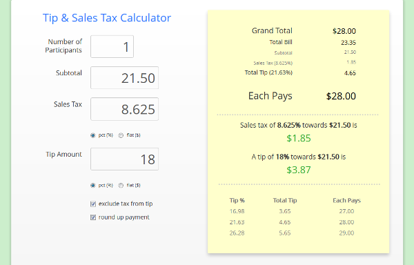 Tip S Tax Calculator Also Features Fee And Profit For Etsy Ebay Bonanza Paypal