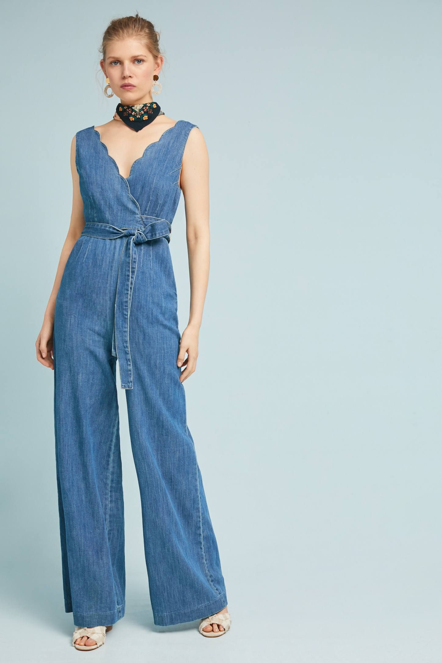 7e54d73be42 Pilcro Denim Wide-Leg Jumpsuit