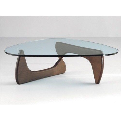 Classic Noguchi Style Japanese Modern Glass And Wood