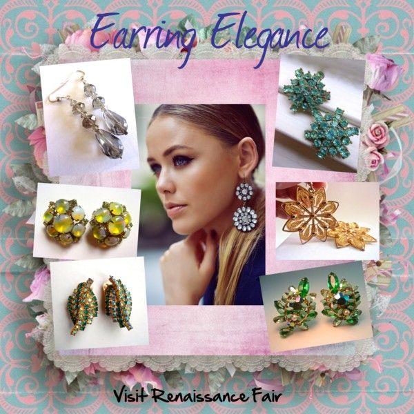Earring Elegance by renaissance-fair on Polyvore