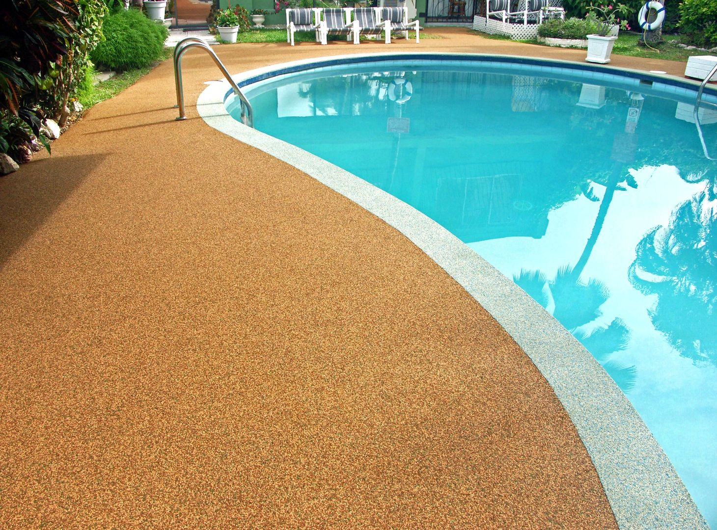 Resurface Inc In Barbados Has Marvelous Solutions For Your Walkways And More Using Recycled Materials Pool Deck Pool Outdoor Decor