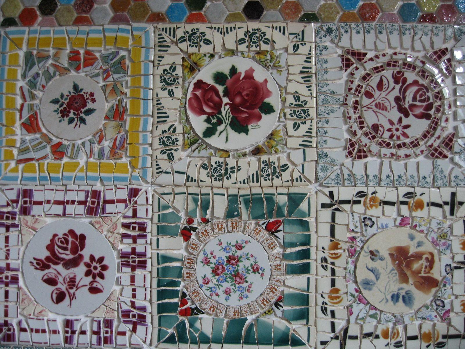 Le Jardin De Grand Mere je me suis amusée à créer une mosaïque technique picassiette