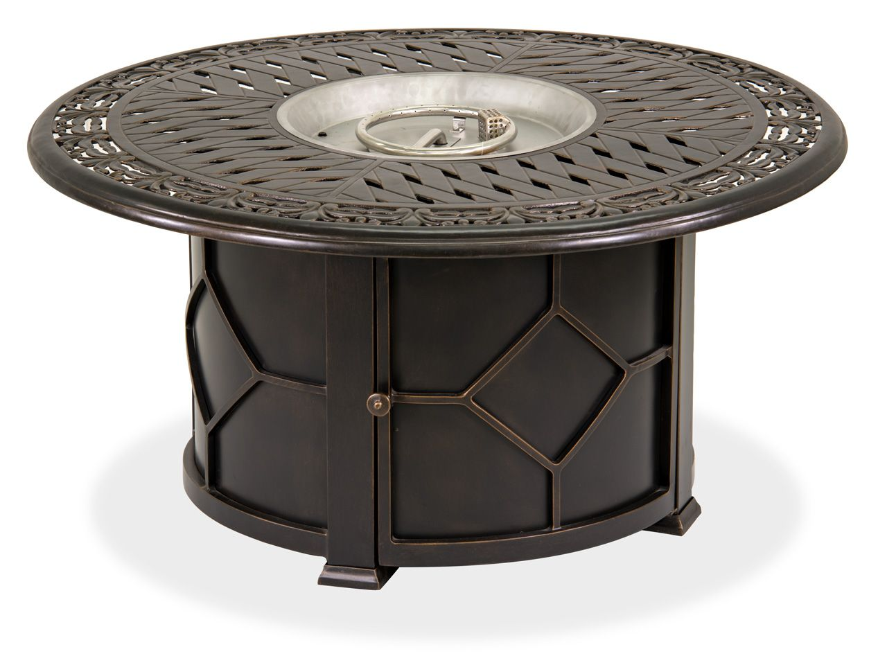 Black Gold 48 Round Cast Aluminuim Lp Fire Pit Coffee Table Fortunoff Backyard Store Fire Pit Coffee Table Furniture Coffee Table