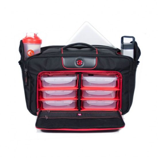 Executive 500 Briefcase - Fitness Cooler Bag  Carry 5 meals, sports nutrition products and shakers, and supplements, plus your computer, tablet, and professional accessories. Everything you need to travel fit.