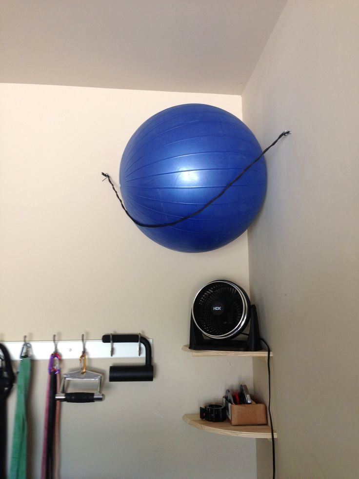 17 Exercise Ball Storage When You Re Working With Limited Space Every Inch Is Crucial Make Your Corners More Workout Room Home Gym Room At Home At Home Gym