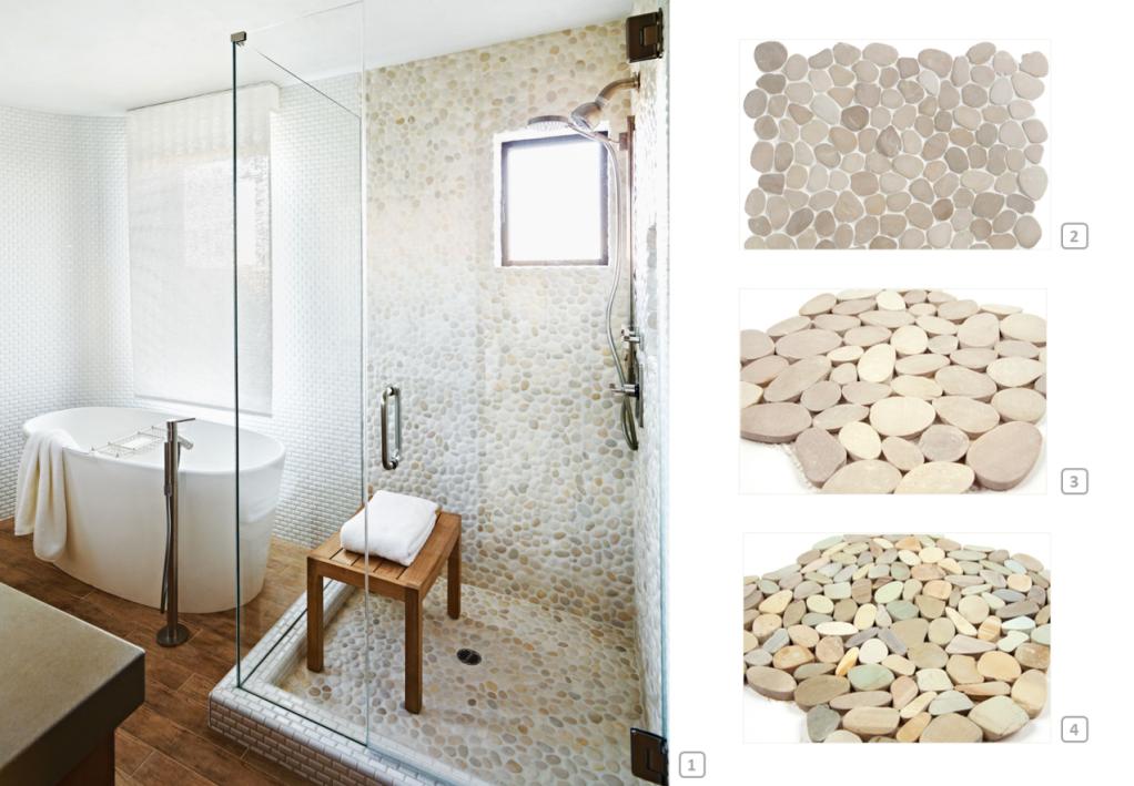 Douche avec des galets dans un esprit spa en 2019 | Idée ...