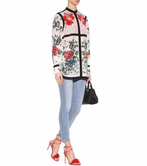 Printed silk blouse | Alexander McQueen