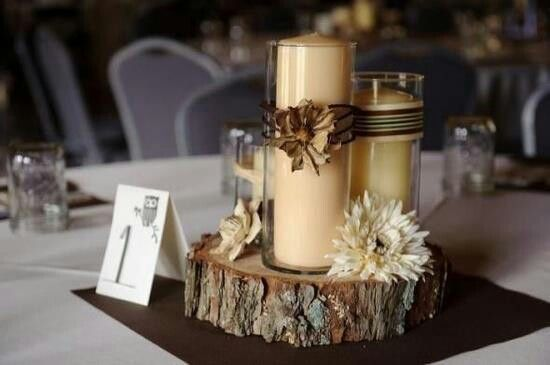 So Easy Wedding Camo Centerpieces Colors Decor Diy Flowers Hunting Outdoors Rustic Tree Trunk 1