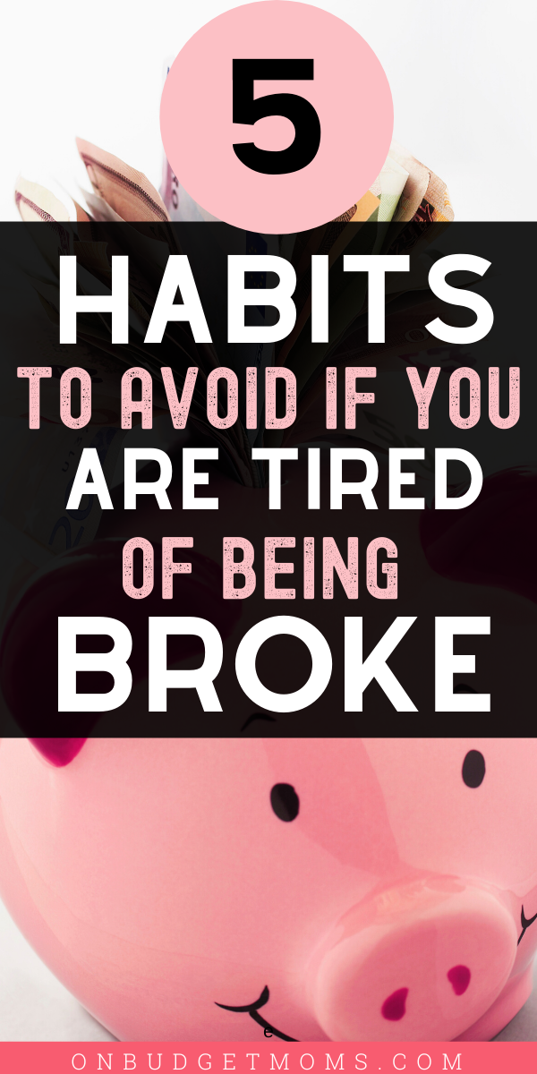 If you are looking for money saving tips or ways to save money when you are broke, these financial mistakes could help you have some extra money to put into a savings. Avoid being in debt and stop living paycheck to paycheck by avoiding these financial mistakes. #budget #finance #moneysavingtips #moneysavers