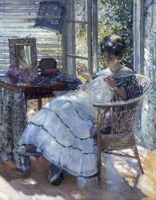 "Richard Edward Miller, ""Sewing"""