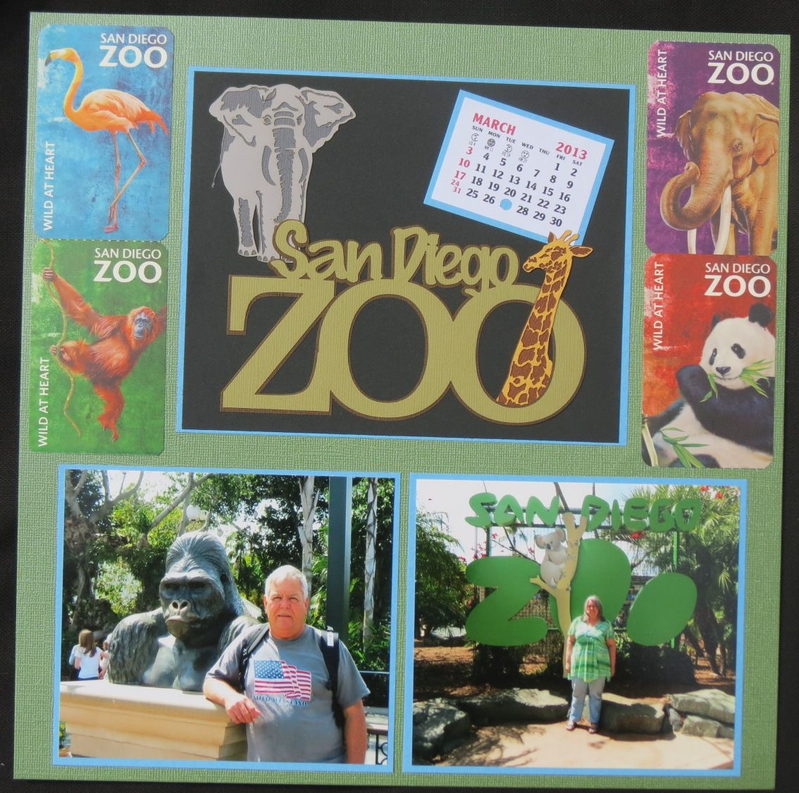 Zoo animal scrapbook ideas - San Diego Zoo Left Side Scrapbook Com