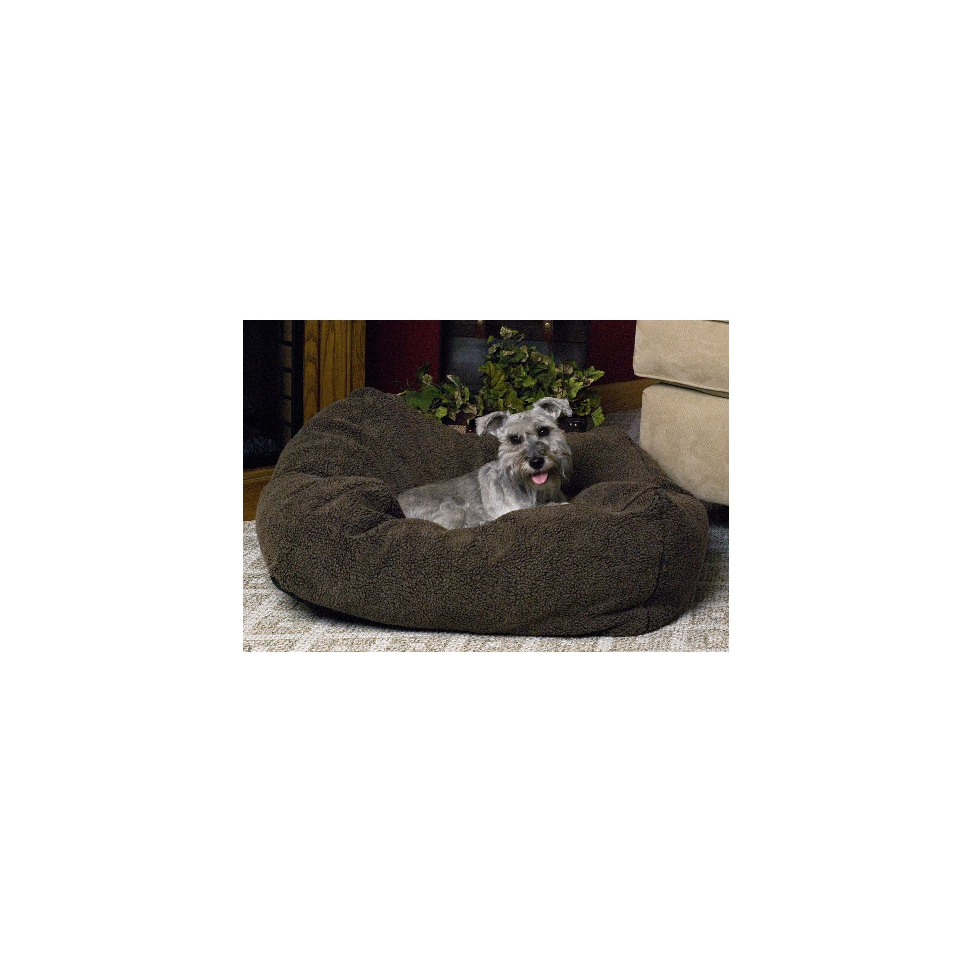 "KandH Cuddle Cube Pet Bed size 28""L x 28""W"", K&H, Brown"