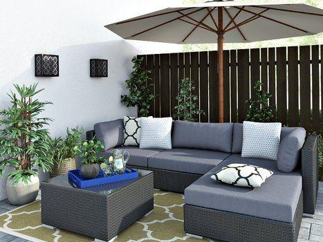 Modern Contemporary Outdoor Design Corner Sofa Set Garden Sofa Set Rattan Corner Sofa