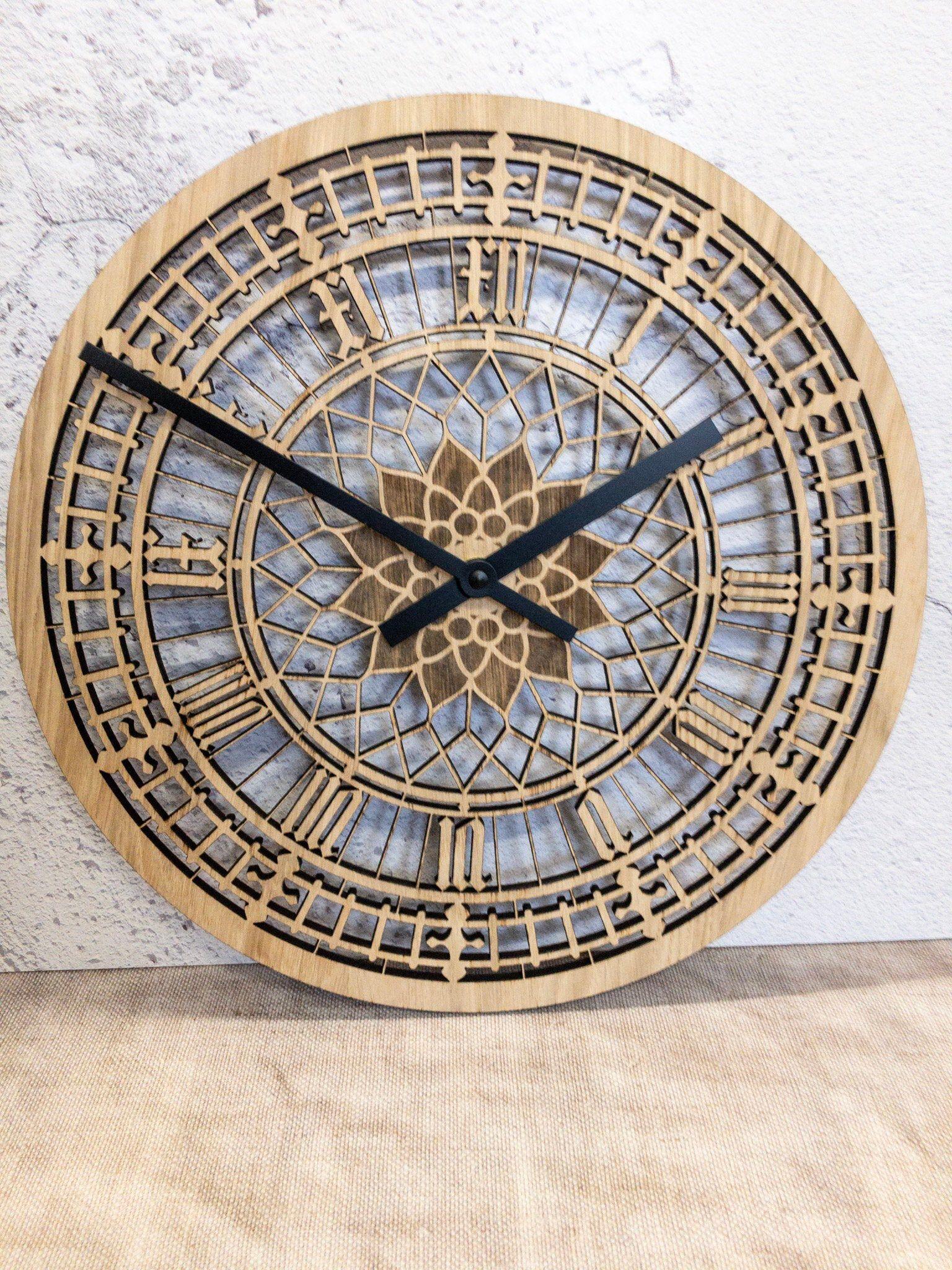 Big Ben Clock Real Oak Face Modern Wall Clock Etsy In 2020 Big Ben Clock Contemporary Wall Clock Wall Clock Modern