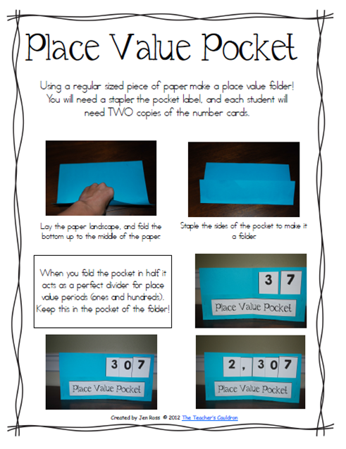 Create A Place Value Chart  Added The Place Value Pocket Chart To