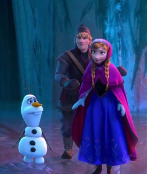 olaf and anna meet kristoff