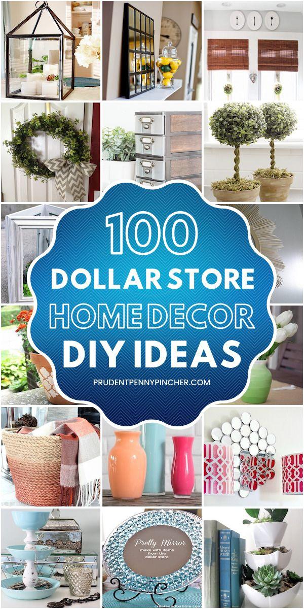 Photo of 100 Dollar Store DIY Home Decor Ideas