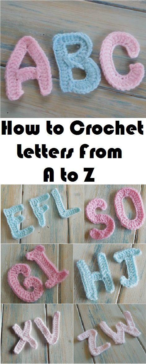 Learn To Crochet Letters From A To Z Haken Pinterest Breien