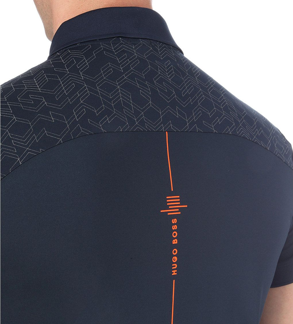 9fb90778 HUGO BOSS - Geometric-pattern jersey polo shirt | Selfridges.com