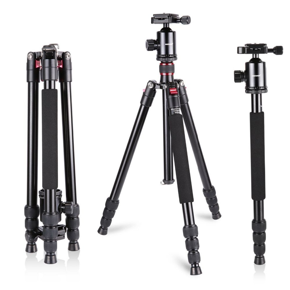 Neewer Aluminum Alloy 64 Inches 162 Cm Camera Travel Tripod Monopod With 360 Degree Ball Head 1 4 Inch Quick Shoe Plate Revie Travel Camera Monopod Dslr Camera