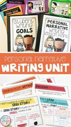 narrative writing unit 4th grade