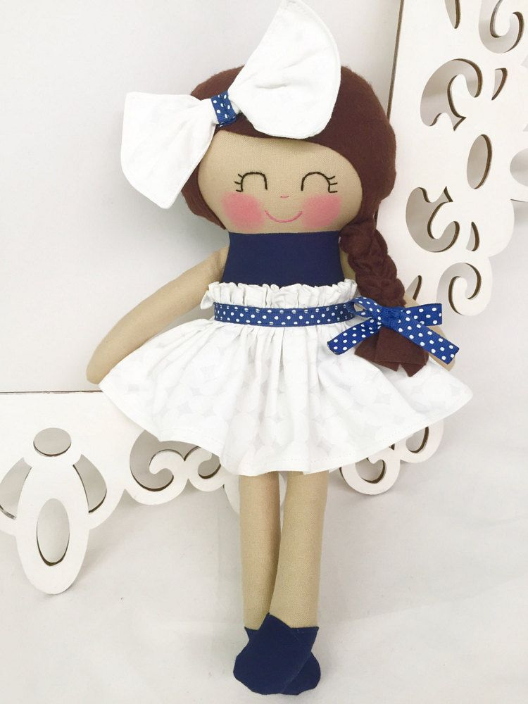 SALE Rag dolls Navy Doll by SewManyPretties on Etsy