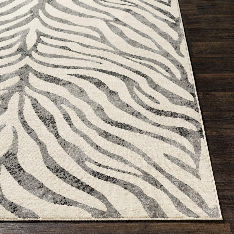Aine Distressed Animal Print Taupe Light Gray Area Rug Florida