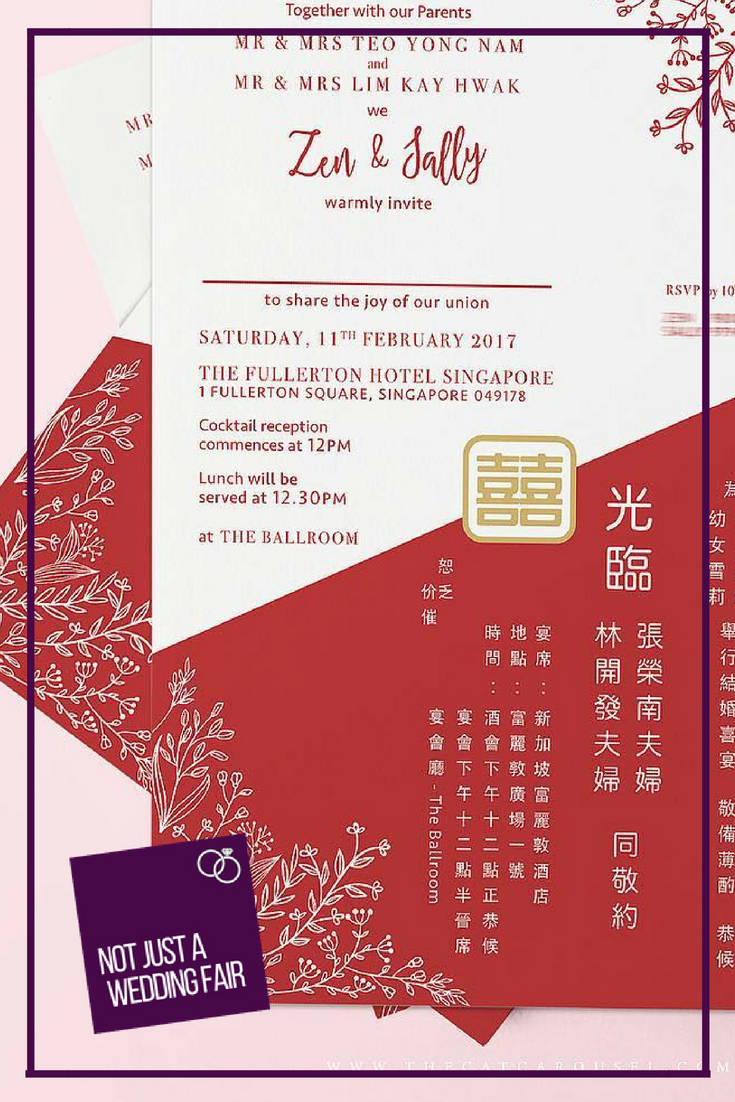 Chinese inspired wedding invitations by The Cat Carousel Get ...