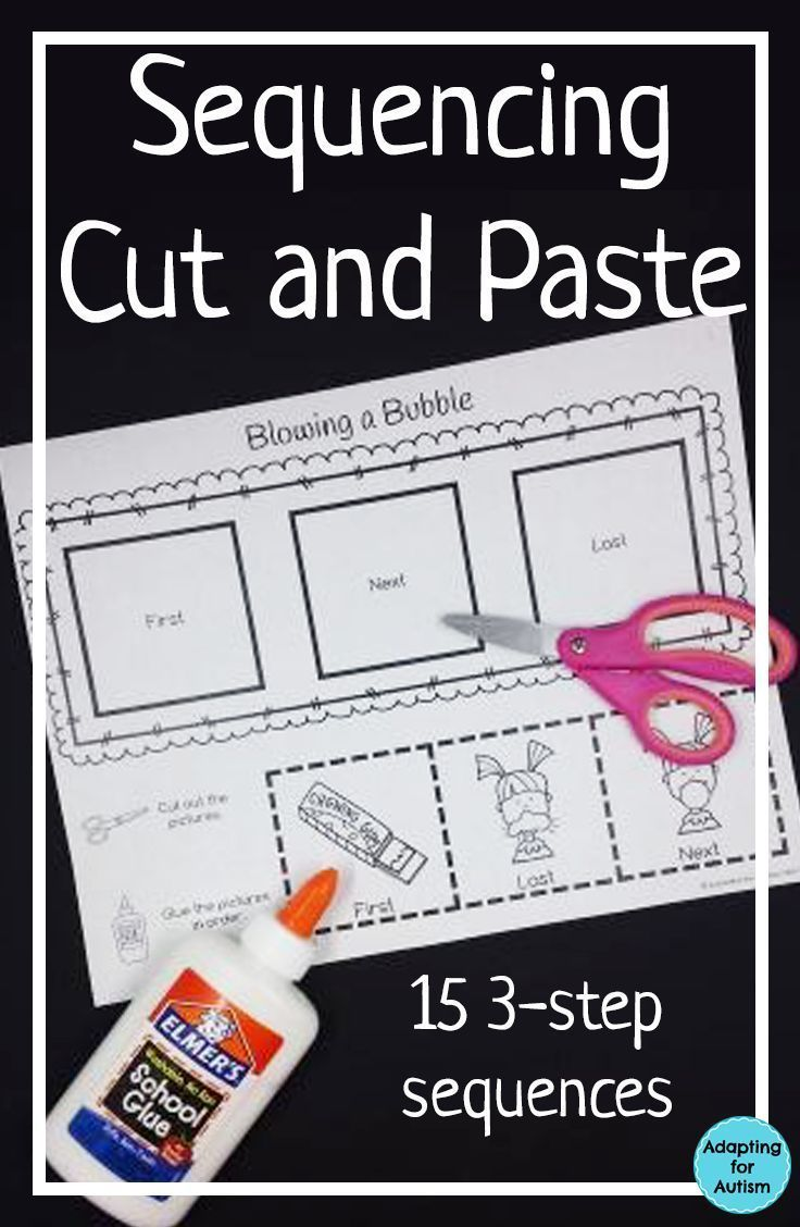 Cut And Paste Sequencing Worksheets For Special Education And Autism