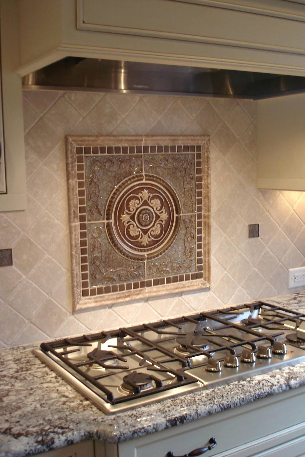 - Tile Medallion Backsplash Tile Medallion Metal Mural Mosaic Tile