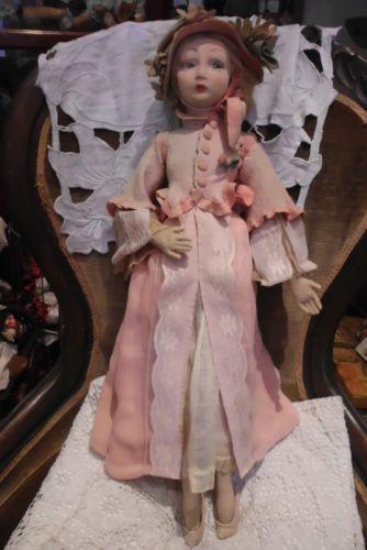 "Antique 22"" Lenci Long Limbed Boudoir Doll | eBay"