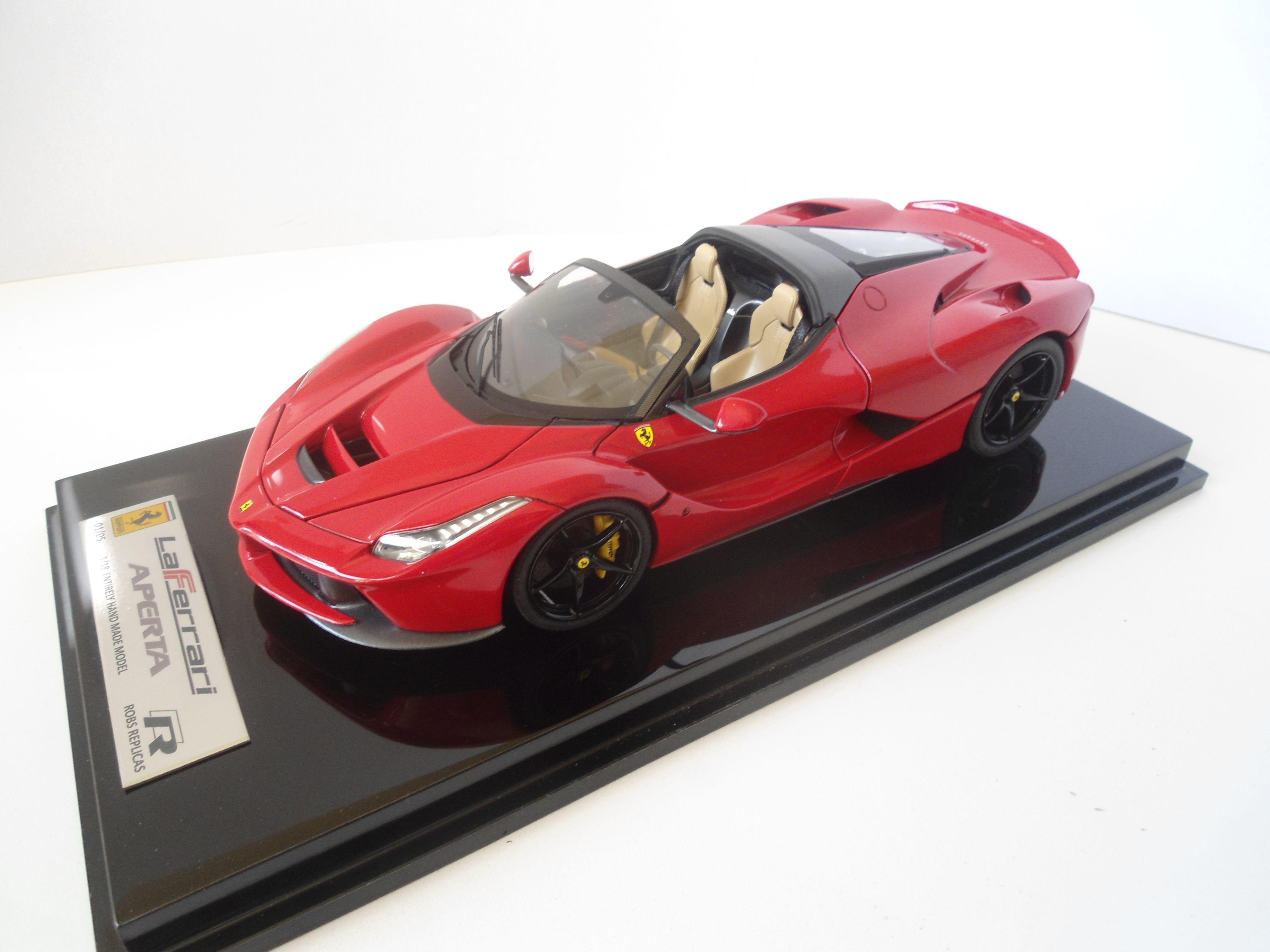 1/18 Robs Replicas Ferrari LaFerrari Aperta In Rosso Corsa 322. Black  Wheelsu2026