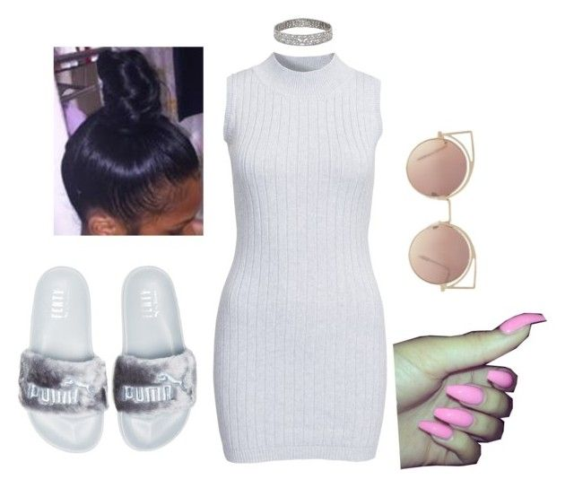 """""""dont cross me...😉"""" by beautyqueen-927 ❤ liked on Polyvore featuring Glamorous, Puma and MANGO"""
