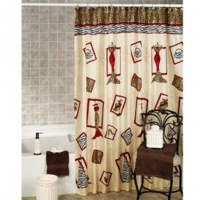 24 75 Chic And Dress Animal Print Shower Curtain Printed Shower