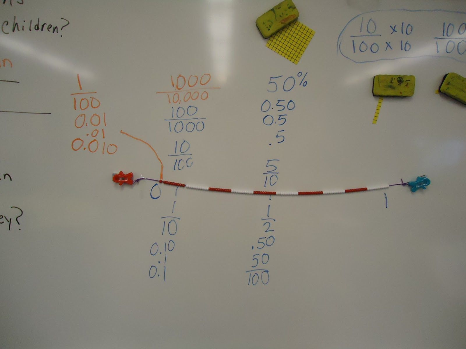 100 Bead String As A Decimal Number Line Great Way To Meetmon Core  Standards