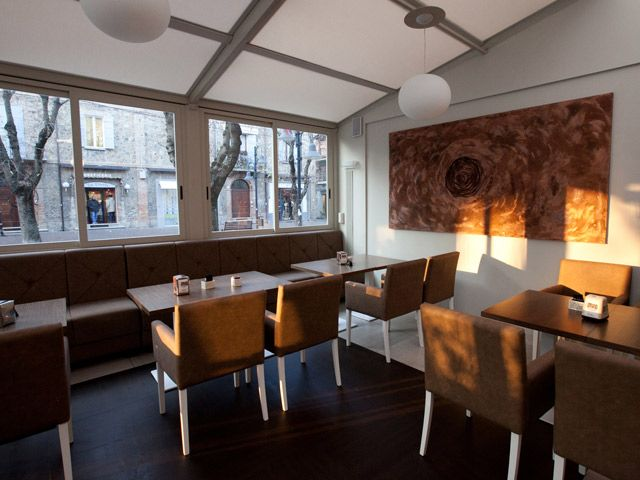 modern coffee shop interior design and