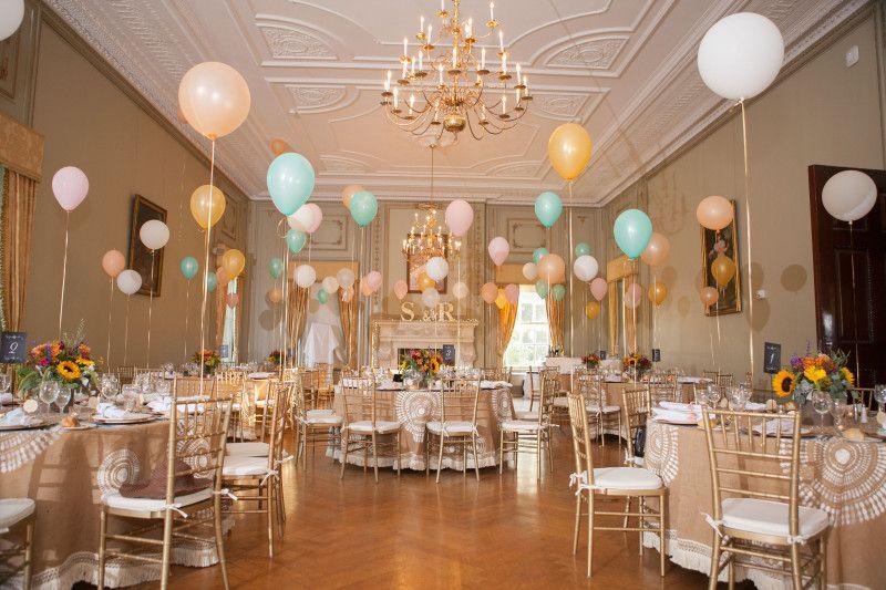New Jersey Bride—DIY burlap tablecloths at Vanderbilt Mansion.