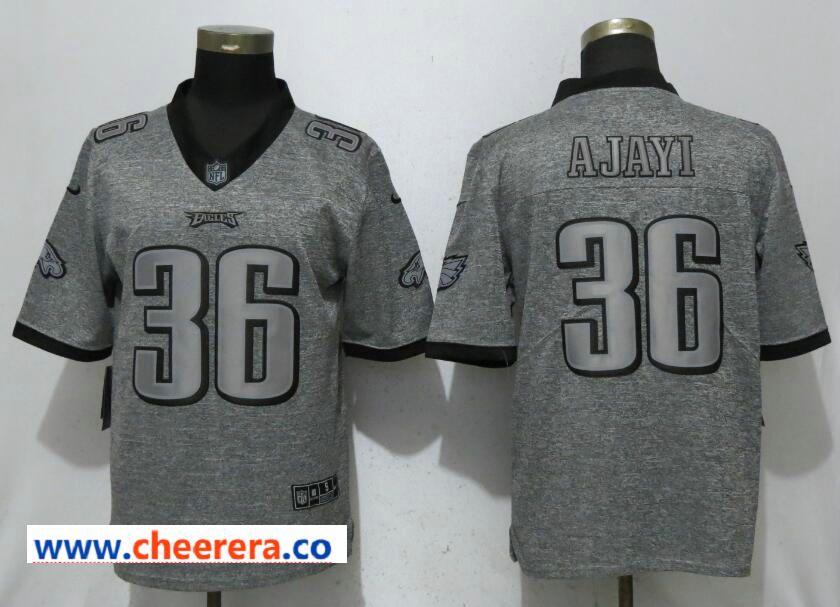29288e5c1 Nike Philadelphia Eagles 36 Jay Ajayi Gray Gridiron Gray Vapor Untouchable  Limited Jersey