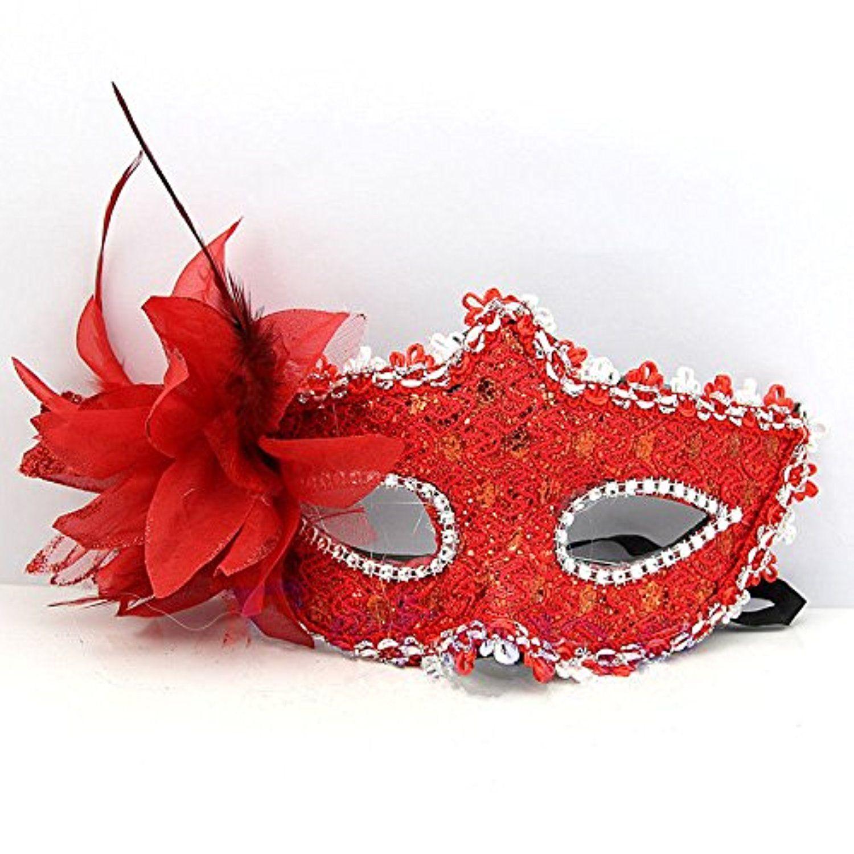 Estore Lace Venetian Masquerade Mask for Women Halloween Nightclub ...