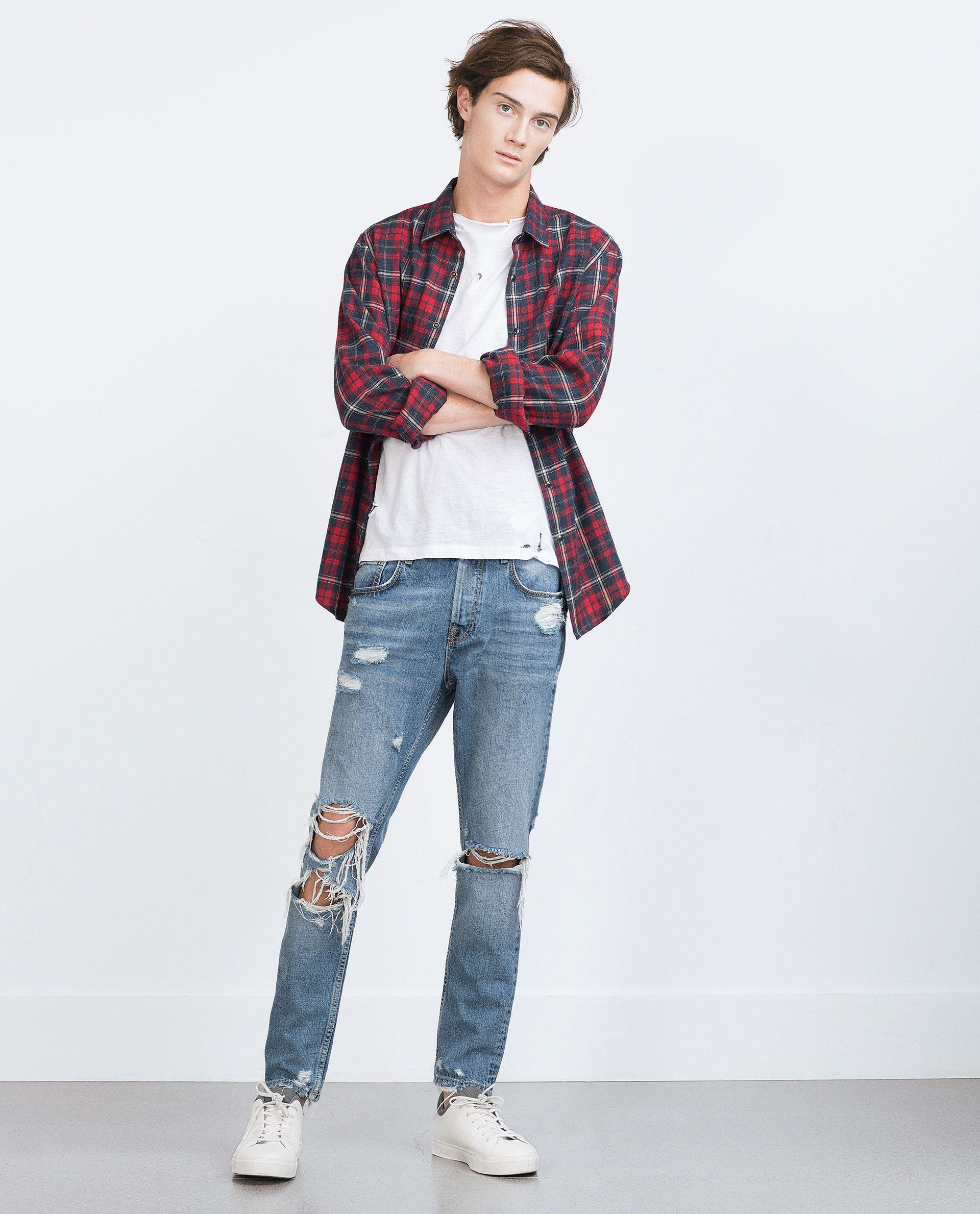 Zerrissene jeans zara